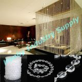 Het acryl Gordijn van de Ketting van de Parel van de Bundel van de Diamant van 10mm Plastic voor het Decor van het Huwelijk