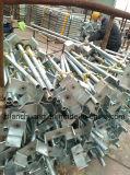 Baugerüst-Schraubejack-Körper-justierbare Stahlstützen für Aufbaujack-Unterseite