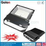 Heißer Verkauf SMD 110lm/W 5 Jahre der Garantie1-10v, die im Freien 200W 150W 100W LED Punkt-Flut-Licht verdunkelt