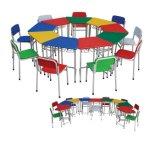 Vector de los muebles de Colorfulchildren y conjunto de madera de la silla