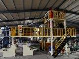 Три уровня АБА Co-Extrusion поворотного блока цилиндров пластиковую пленку выдувание машины