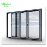 Het dubbele Venster van het Aluminium van het Glas Glijdende voor Verkoop