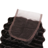 Bundles Virgem Remy natureza brasileira cabelo sedoso Lace duas partes Deep Curl Mulheres Toupee