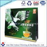Colorare il marchio di stampa del sacco di carta di acquisto per il regalo del tè