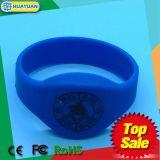 Wristband da borracha de silicone RFID de NTAG203 NTAG213 NFC para o parque da água