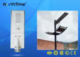 Lámpara de calle accionada solar elegante toda junta del LED para la región costera