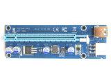 009s PCI-E de 1X-16X verticales con luz LED