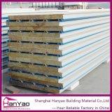 Ignifugar el panel de emparedado de acero galvanizado de las lanas de roca para las paredes de la casa