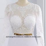 Elegantes reizvolles Schaufel-Hochzeits-Kleid-Satin-Hüllen-Hochzeits-Kleid