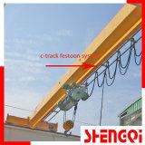 オーバーヘッド単一のガード橋クレーン高品質の吊り下げ式クレーン