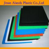 Material de PP preto chapas nervuradas para a protecção de paredes e piso