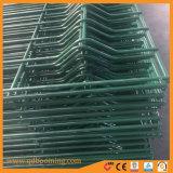 Recubierto de PVC de calibre 10 3 D de cerco de malla de alambre curvo