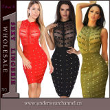 Sexy Women Sheer Cocktail PROM Gown Party Evening Dress (TKYA44)