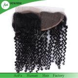 Волосы волны перуанских волос глубокие с Frontal шнурка