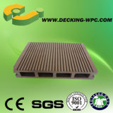 Revestimento plástico de madeira barato do Decking do composto WPC