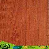 Papel da folha do revestimento com cor de madeira da grão