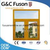 Het dubbel Verglaasde Openslaand raam van het Frame van het Aluminium met Klamboe