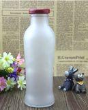 600 Ml esvaziam o frasco de vidro bebendo, recipiente de vidro