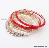 Toebehoren van de Juwelen van de Armbanden van de Armbanden van de Leeswijzer van de Parels van het Kristal van de manier Multilayer
