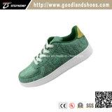 新式の緑のビロードは靴の女性によって上げられるプラットホームの靴Qr16050sを遊ばす