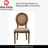 Französischer Louise-hölzerner Stuhl, der runde Rückseiten-Stuhl speist