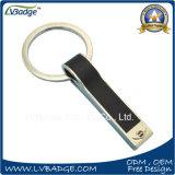 Выдвиженческий кожаный ключевой держатель для изготовленный на заказ логоса