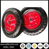 Camilla de ruedas de goma de 16 pulgadas de 4.00-8 vagón de la cesta