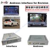 (13-16) Le navigateur visuel de surface adjacente de HD du véhicule GPS de mise à niveau de multimédia androïdes automatiques de contact pour Buick envisagent, 1080P/WiFi/Mirrorlink/Bt