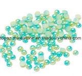 Радуга моря голубая наполовину вокруг перл ABS имитационное Flatback от 3mm до 6mm для искусствоа ногтя украшений одежды (радуга TP-Моря голубая)