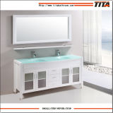 """Governo della mobilia di vanità della stanza da bagno del doppio dispersore di pollice di stile americano 72 """" con lo specchio"""