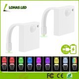 Betätigte nachladbare LED Licht-Bewegung wasserdichtes Bewegungs-Fühler-Toiletten-Nachtlicht USB-8 Farben, die Nachtlicht ändern