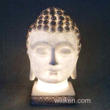 新しいデザインPolyresin夜ライト仏のヘッド彫像