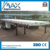 20 et 40' de transporteur de conteneurs semi-remorque à plat, deux essieux et de trois essieux