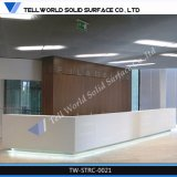 Heiße Verkaufs-künstliche Steinqualitäts-ovaler Empfang-Schreibtisch