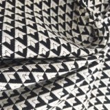 El diamante blanco y negro de moda Tejidos Jacquard