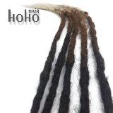 Cheveu synthétique Ombre 24 prolonges de cheveu de Dreadlocks de crochet de pouce
