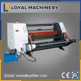 Hohe Präzisions-Kunstdruckpapier, das Rückspulenmaschine mit Beleg-Welle aufschlitzt