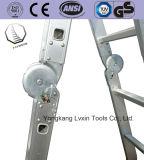 En131 Сертификат 12 шагов 3,7 м алюминиевая Складная лестница