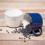Выпивая чашка чая, чашка 500ml 1000ml эмали измеряя