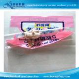 Intestazione del sacchetto con il sacchetto di plastica di rinforzo della pellicola della perla che fa macchina