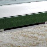 Кровать кожи мебели спальни конструкции двойной кровати способа самомоднейшая (FB3070)