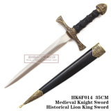 歴史的短剣の騎士短剣のホーム装飾25cm HK6f014
