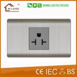 솔질된 스테인리스 에너지 절약 접촉 지연 벽 스위치