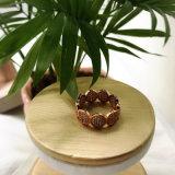 Anillos cristalinos del diseño de piedra Gold-Tone del embutido de la manera para las mujeres