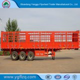 중국 3 차축 말뚝 또는 화물을%s 반 옆 널 또는 담 트럭 트레일러 또는 과일 또는 가축 또는 무기물