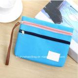 Tela de alta qualidade multiuso caso lápis, prático mini Travel saco de cosmética, saco de armazenamento de dados do organizador de cabo digital