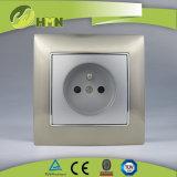 Ce/TUV/BV에 의하여 증명되는 유럽 기준 금속 아연 1Gang 은 프랑스 소켓