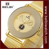 Belbi Ultra-Thin 스테인리스 큰 다이얼 가짜 3 눈 6 Pin 디자인 여자 시계