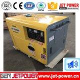 6kw 6kVA 침묵하는 가정 사용 휴대용 공기에 의하여 냉각되는 디젤 엔진 발전기