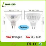 Projecteurs économiseurs d'énergie de l'ampoule 6W (50W équivalent) Dimmable DEL de réflecteur de MR16 GU10 DEL
